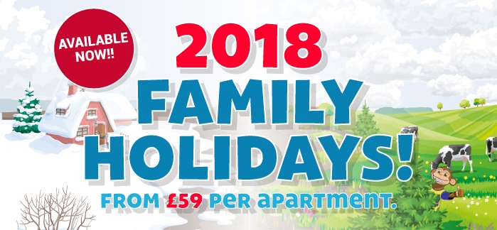 2018 Family Holidays from £59 per family!