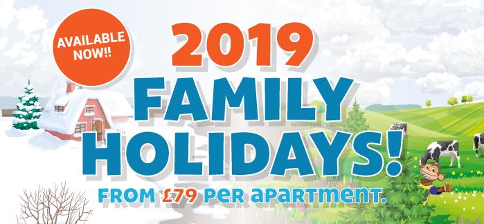 2019 Family Breaks From £79 per family!