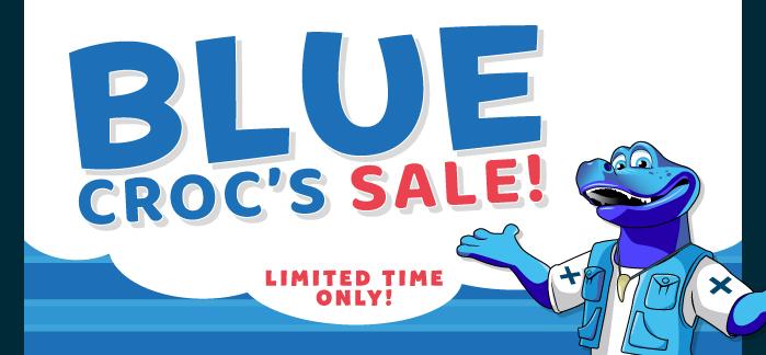 Blue Croc's Sale from £13 per night!