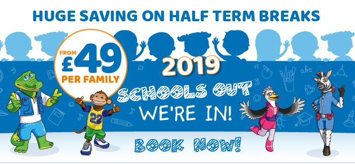 2019 School Holiday Breaks From £49
