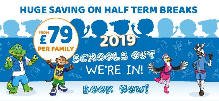 2019 School Holiday Breaks From £79