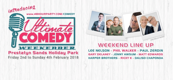 Ultimate Comedy Weekender from £59pp