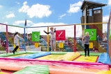 Try out the trampolines at Pontins