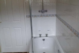 Bath and Shower area of Pontins Southport bungalow
