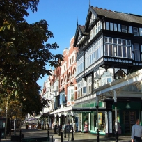 Lord Street shops near our Southport Park