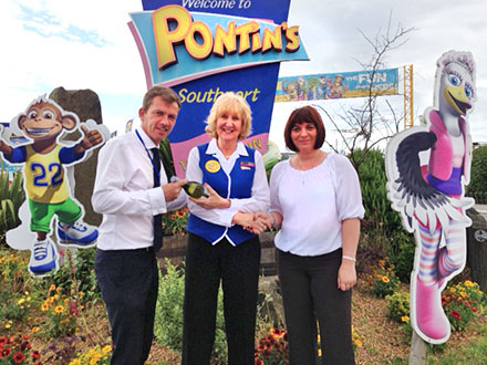 Pontins Employee of the Month for July is Sue Southern