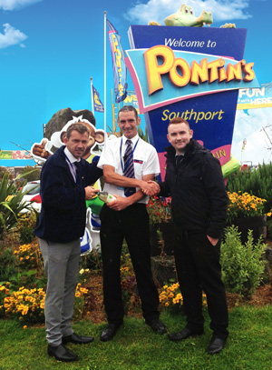 Pontins Employee of the Month for August is Ian Ellis