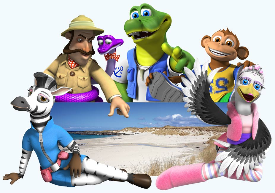 The Croc Crew showing you the local beach