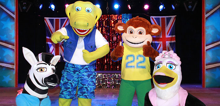 Here's the Croc Crew photo shoot after they performed live on stage at Pontins