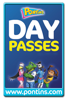 Choose a day pass for Pontins Holiday Parks