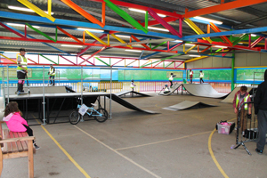 The new all weather skate park at Southport