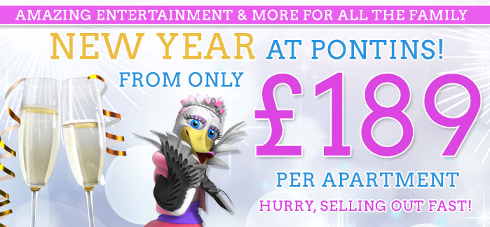 Entertainment for Pontins New Year family breaks 2014